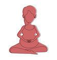 woman pregnant doing prophylaxis exercises vector image