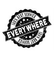 world best service stamp with dust texture vector image vector image