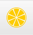yellow lemon fruit icon isolated on background mo vector image