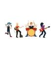 Cartoon Rock Band vector image