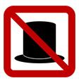 No hat sign vector image