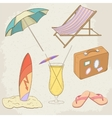 Summer Holiday Hand Drawn Icons vector image