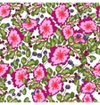 Seamless pattern of small bouquets pink flowers vector image