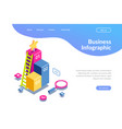 3d infographic for web template magnifying glass vector image vector image