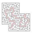 a square labyrinth with an entrance and an exit vector image