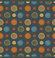 abstract circles seamless pattern background vector image vector image