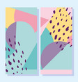 abstract shapes 80s memphis geometric vintage vector image vector image