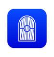 arched window icon digital blue vector image vector image