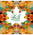 Autumn leaf text with triangles background EPS10 vector image vector image