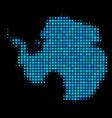 blue halftone antarctica map vector image vector image