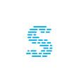 blue stripes logo letter s vector image
