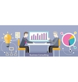 Business Consulting Design Flat vector image