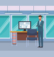 business people at office vector image