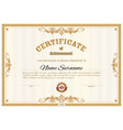 certificate template diploma award border frames vector image vector image