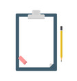 clipboard with blank sheet of paper a pencil vector image vector image