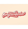 congratulations handlettering vector image vector image