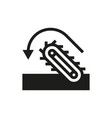 conveyor belt and poured into the coal pile vector image vector image