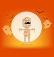 cute mummy halloween costume concept cute witch vector image