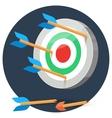 Dart arrows miss target vector image