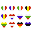 European flags in a heart shape vector image