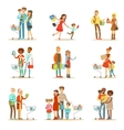 Families Shopping In Department Store And Shopping vector image vector image