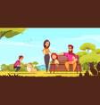 family active holidays cartoon vector image vector image