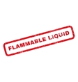 Flammable Liquid Rubber Stamp vector image vector image