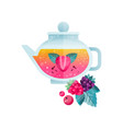 fruit tea vitamin healthy drink with cranberry vector image