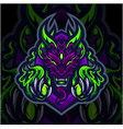 ghost esport mascot logo design vector image vector image