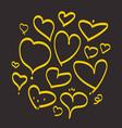 heart hand drawn sketch doodle line love vector image vector image