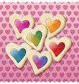 Heart shaped cookies for valentine day vector image