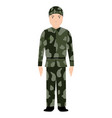 isolated soldier avatar vector image vector image