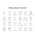 line icons set virtual reality pack vector image vector image