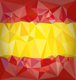 Low Poly Spain Flag vector image
