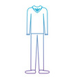 male clothes with sweater and pant and shoes in vector image