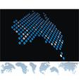 map dot australia vector image