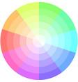 palette pastel colors pie chart vector image vector image