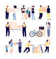 people moving new house family moves new home vector image vector image