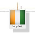 photo of ivory coast flag vector image