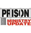 prison ministry update vector image