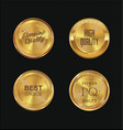quality golden badges 2 vector image vector image