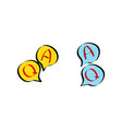 question answer flat bubble icons in doodle vector image vector image
