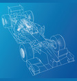racing car wire-frame eps10 format vector image