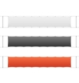 Realistic Blank Banner Textile Set vector image vector image