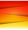 Red orange and yellow paper layers abstract vector image vector image