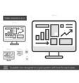 Sales statistics line icon vector image vector image