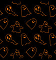 seamless pattern black background with orange vector image