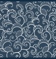 seamless white lace ornamental pattern with curls vector image vector image