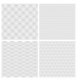 set four white background seamless pattern vector image vector image