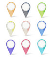 set of multicolored map pins vector image